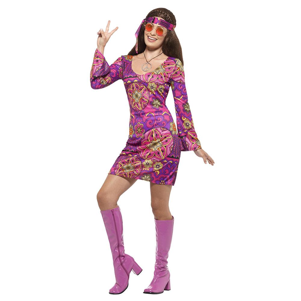 Disfraz Hippie Rosa Adulto