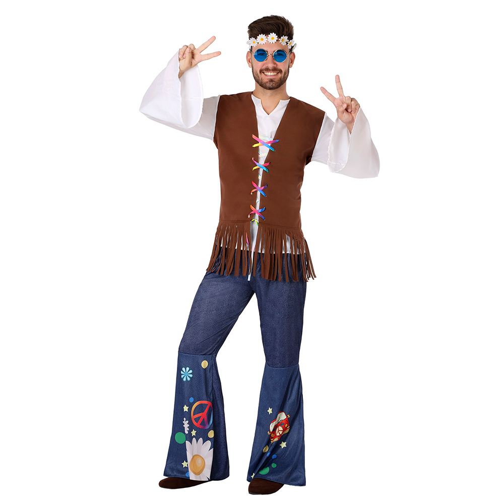 Disfraz Hombre Hippie Peace Adulto