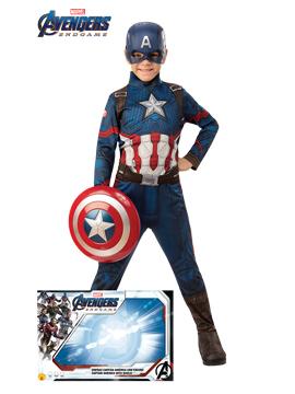 Disfraz Capitán América Endgame con Escudo Infantil