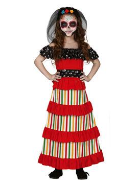 Disfraz Catrina Día de los Muertos Infantil
