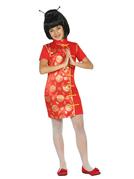 Disfraz China Rojo Infantil