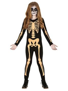 Disfraz Esqueleto Naranja Infantil