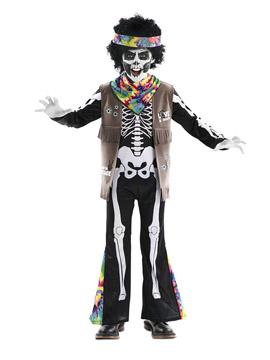 Disfraz Esqueleto Hippie Infantil