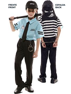 Disfraz Doble Fun Policía Ladrón Infantil