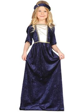 Disfraz Dama Medieval Azul Infantil