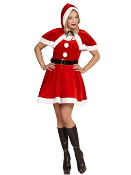Disfraz Mamá Noel con Capucha Adulto