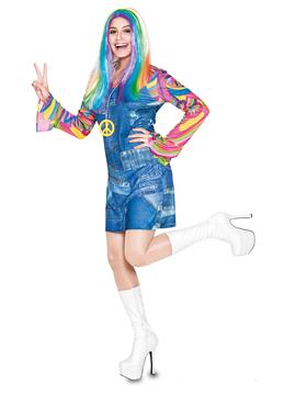 Disfraz Mujer Hippie Vaquera Adulto