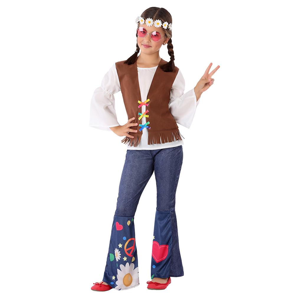 Disfraz Niña Hippie Peace Infantil