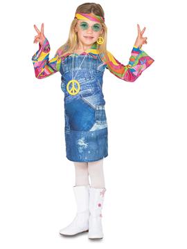 Disfraz Niña Hippie Vaquera Infantil