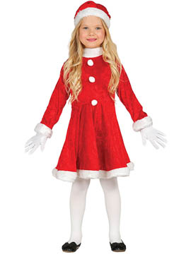 Disfraz Niña Mamá Noel Infantil