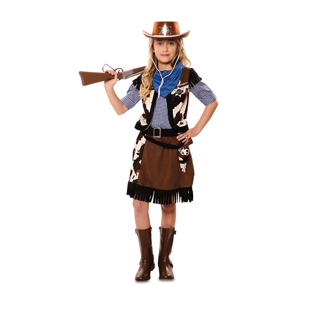 ▷ Disfraz Niña Vaquera Infantil - Comprar Online  Miles de Fiestas  bbb986fd671
