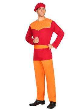 Disfraz Paje Rojo Hombre
