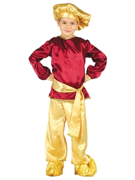 Disfraz Paje Rojo y Dorado Infantil