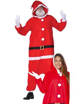 Disfraz Papá Noel con Capucha Adulto