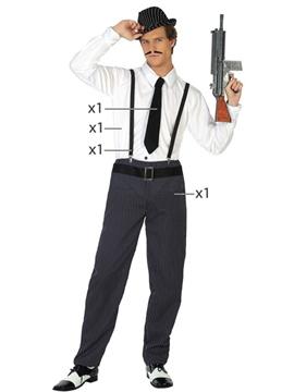 Disfraz Hombre Ganster Adulto