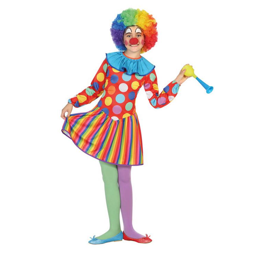 Disfraz Payasa Multicolor Infantil
