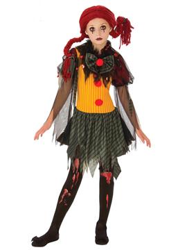 Disfraz Payasa Zombie Infantil
