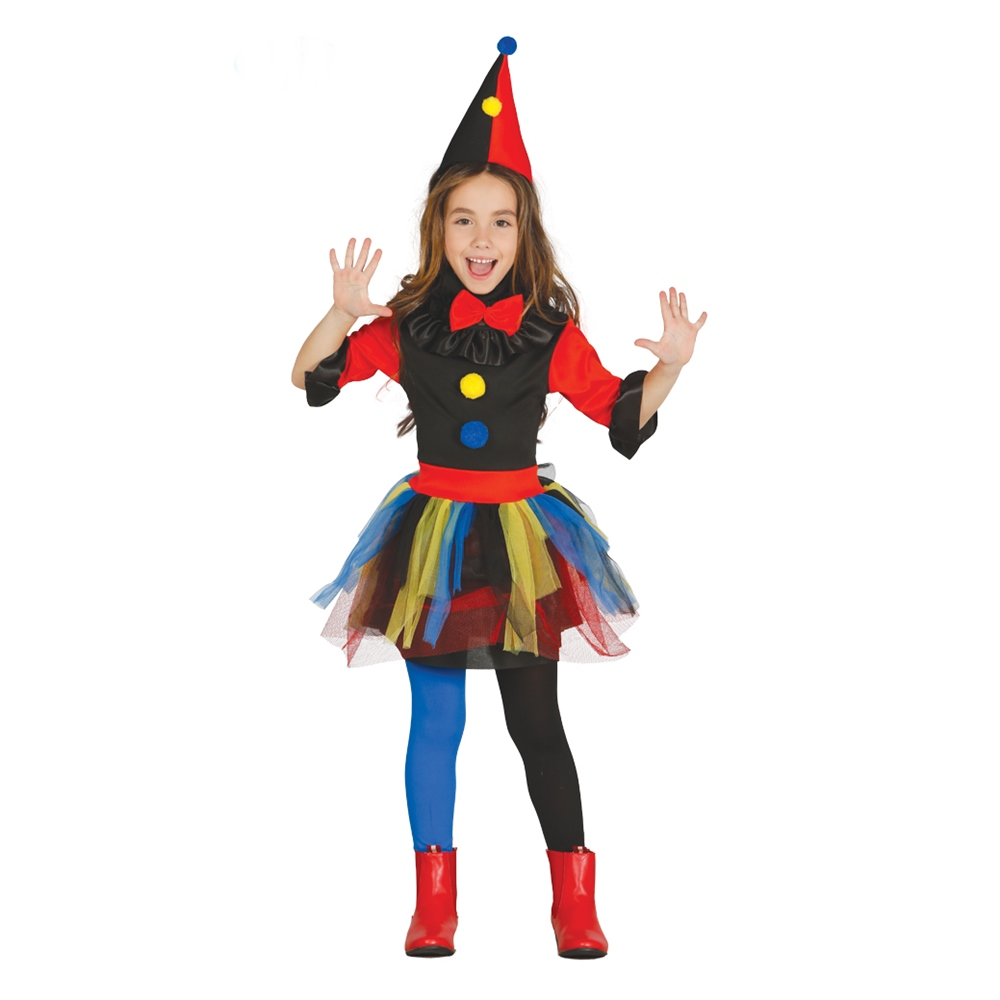 Disfraz Payasita Multicolor Infantil