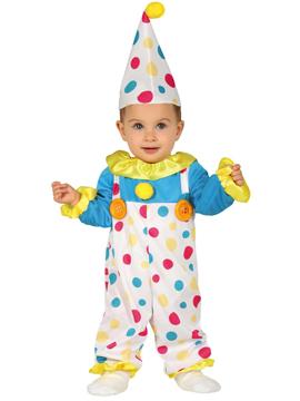 Disfraz Payaso con Topos Bebé