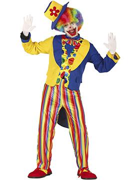 Disfraz Hombre Payaso Multicolor Adulto