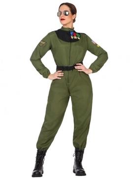 Disfraz Piloto Militar Mujer