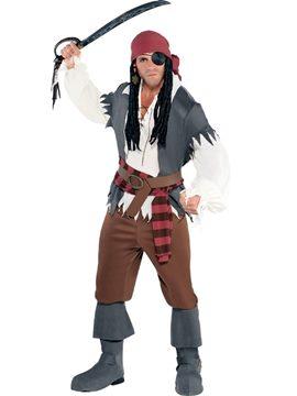 Disfraz Pirata Náufrago Adulto