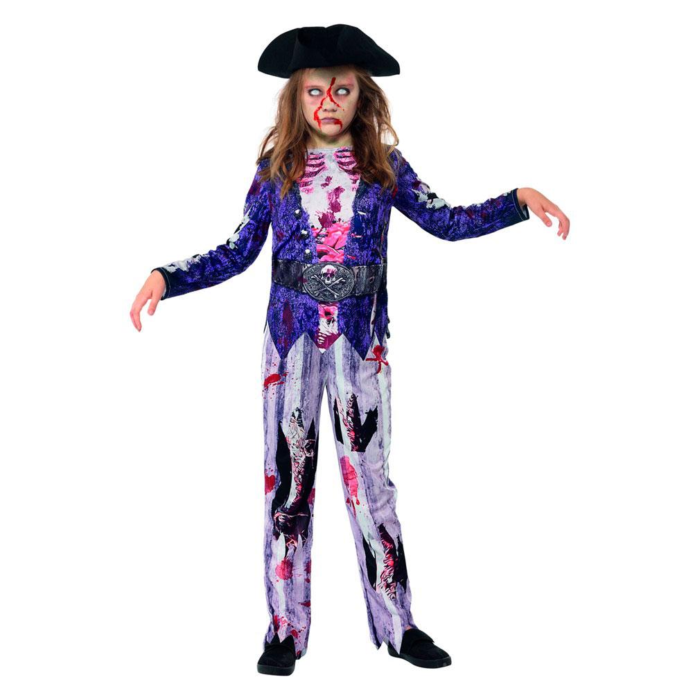 Disfraz Pirata Zombie Niña