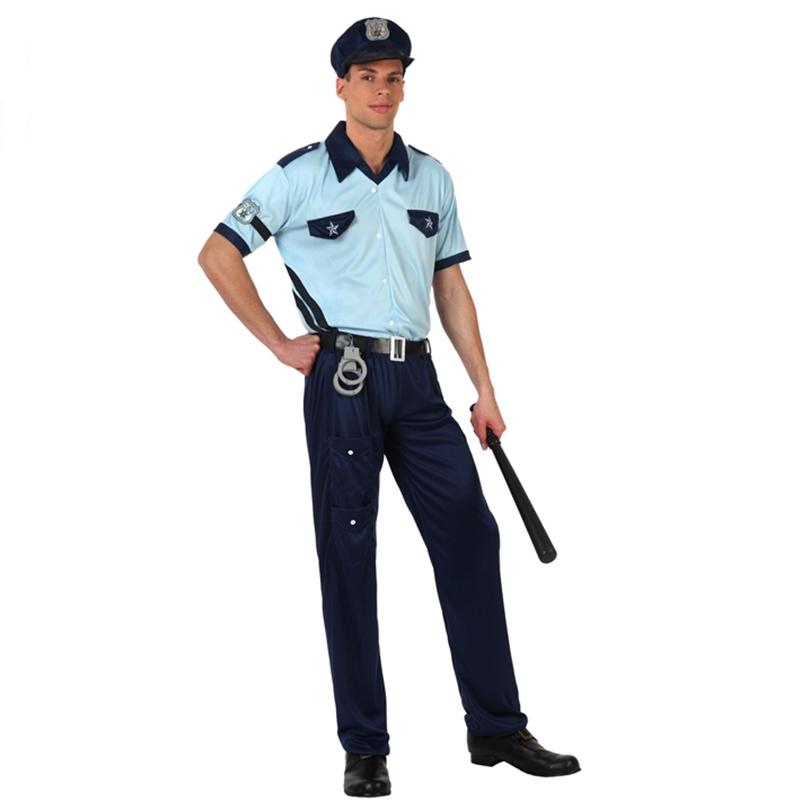 Disfraz policía-policía disfraz talla s rayas policía hombres disfraz s