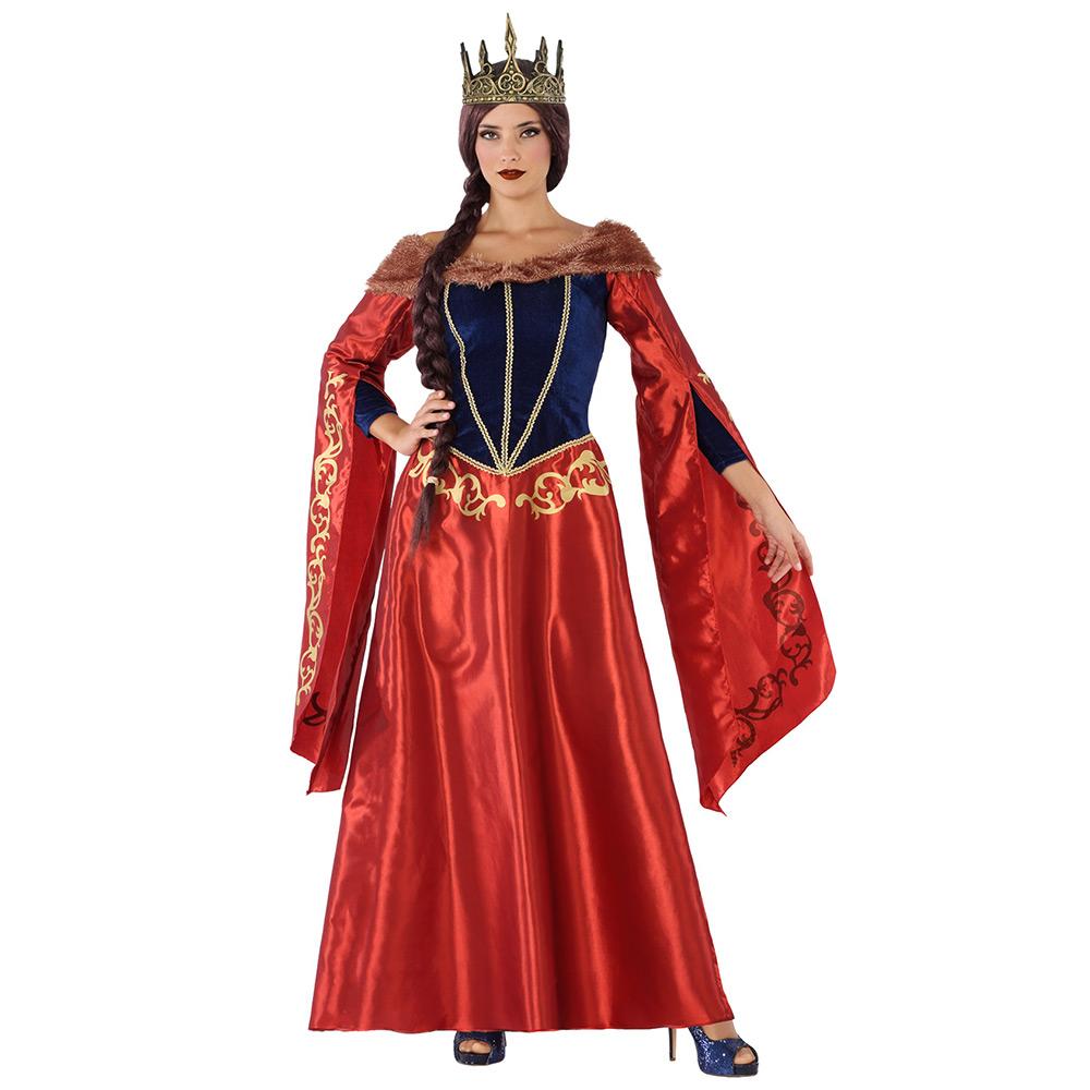 Disfraz Reina Medieval Roja Adulto