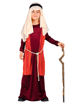 Disfraz San José Pastor Infantil Rojo