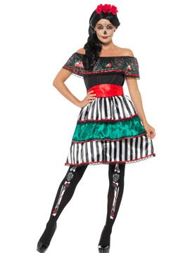 Disfraz Señorita Día de los Muertos Adulto