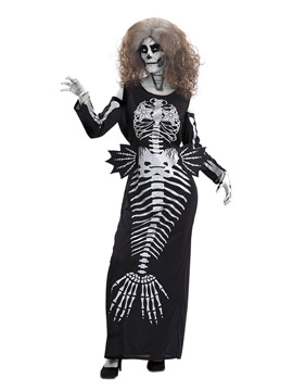 Disfraz Sirena Esqueleto Adulto