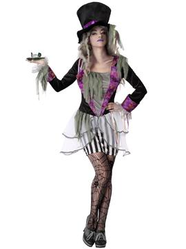 Disfraz Sombrerera Loca Halloween Mujer