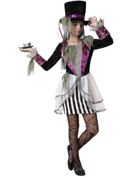 Disfraz Sombrerera Loca Halloween NIña