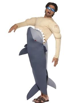 Disfraz Tiburón Comiendo un Humano Adulto