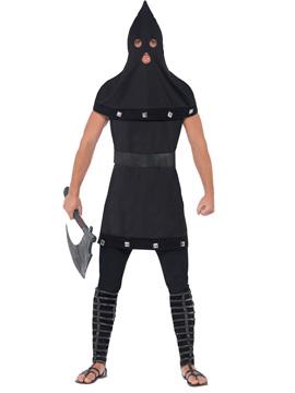 Disfraz Verdugo Medieval Negro Adulto