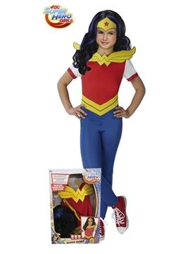 Disfraz Wonder Woman con Peluca Infantil