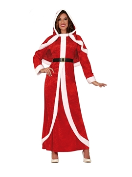 Disfraz Mamá Noel con Capa Adulta