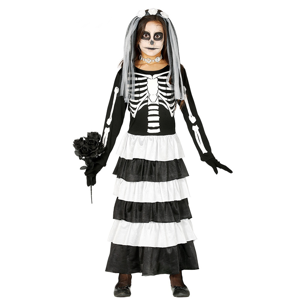 Disfraz Novia Esqueleto Infantil