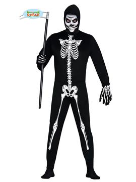 Disfraz Esqueleto Enterizo Adulto