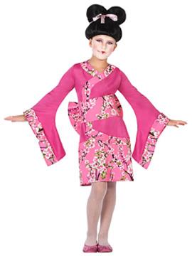 Disfraz Geisha Rosa Infantil