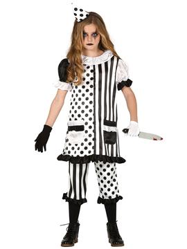 Disfraz Payaso Asesino Pierrot Infantil