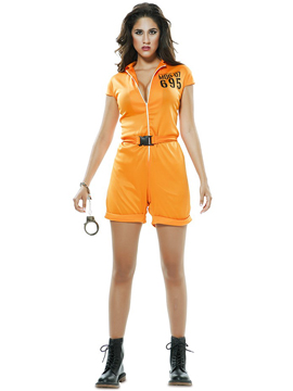 Disfraz Prisionera Naranja Adulto