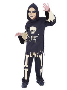 Disfraz Esqueleto con Ojos Infantil