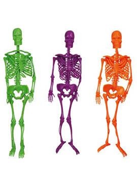 Esqueletos Colgantes de Colores 3 ud