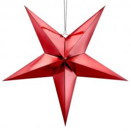 Estrella Decorativa de Papel Roja 70 cm