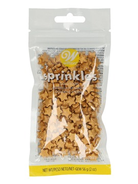 Estrellas doradas comestibles Wilton