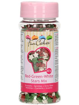 Estrellitas Blancas, Rojas y Verdes Comestibles