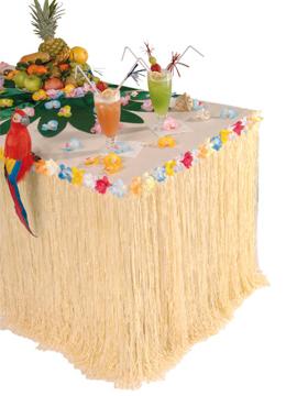 Falda para mesa Tropical con Flores