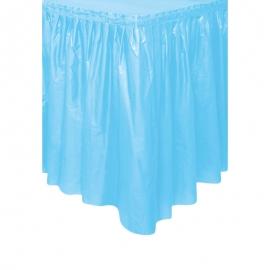 Falda de Plástico para Mesa Azul